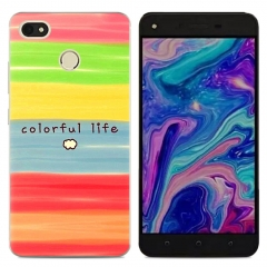TECNO K9 Phone Case Fitted Cover Soft TPU Colorful Back Cover Don't touch my phone make code