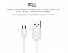 Android Micro USB Universal  2A Fast Charge Data transmit and Charging Cable White 1M