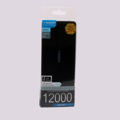 Generic Power Bank - 12000 mAh - Super Slim Design With Polymer Fast Charging Battery BLUE+BLACK 12000mAH