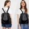 Women Backpack Purse PU Leather Fashion Travel Casual Detachable Covertible Ladies Shoulder Bag black one size