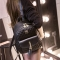 Lady Girls Fahsion Leather Backpack Mini Backpack Purse for Women grey one size