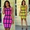 Women's African Bodycon Sleeveless High Collar Club Casual Dress m rose