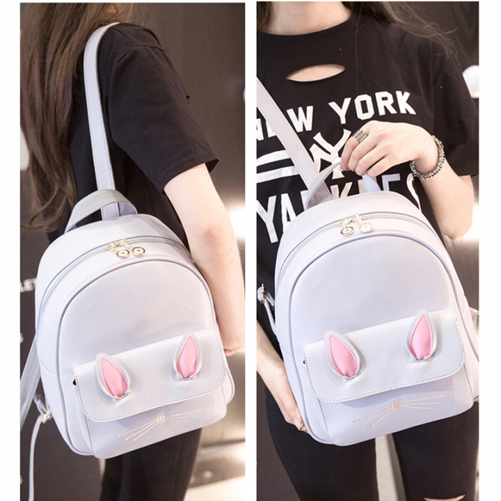 142585dc8e33 Cute Small Backpack Mini Purse Casual Waterproof Daypacks Leather for Teen  Girls and Women light grey