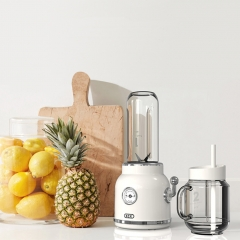 ECX retro juice extractor, multi function juice charger, portable fruit juice cup. white