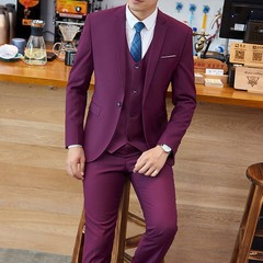 Men's suits, men's suit business suits suit jacket Slim professional dress groom groomsmen group clothing for men ...