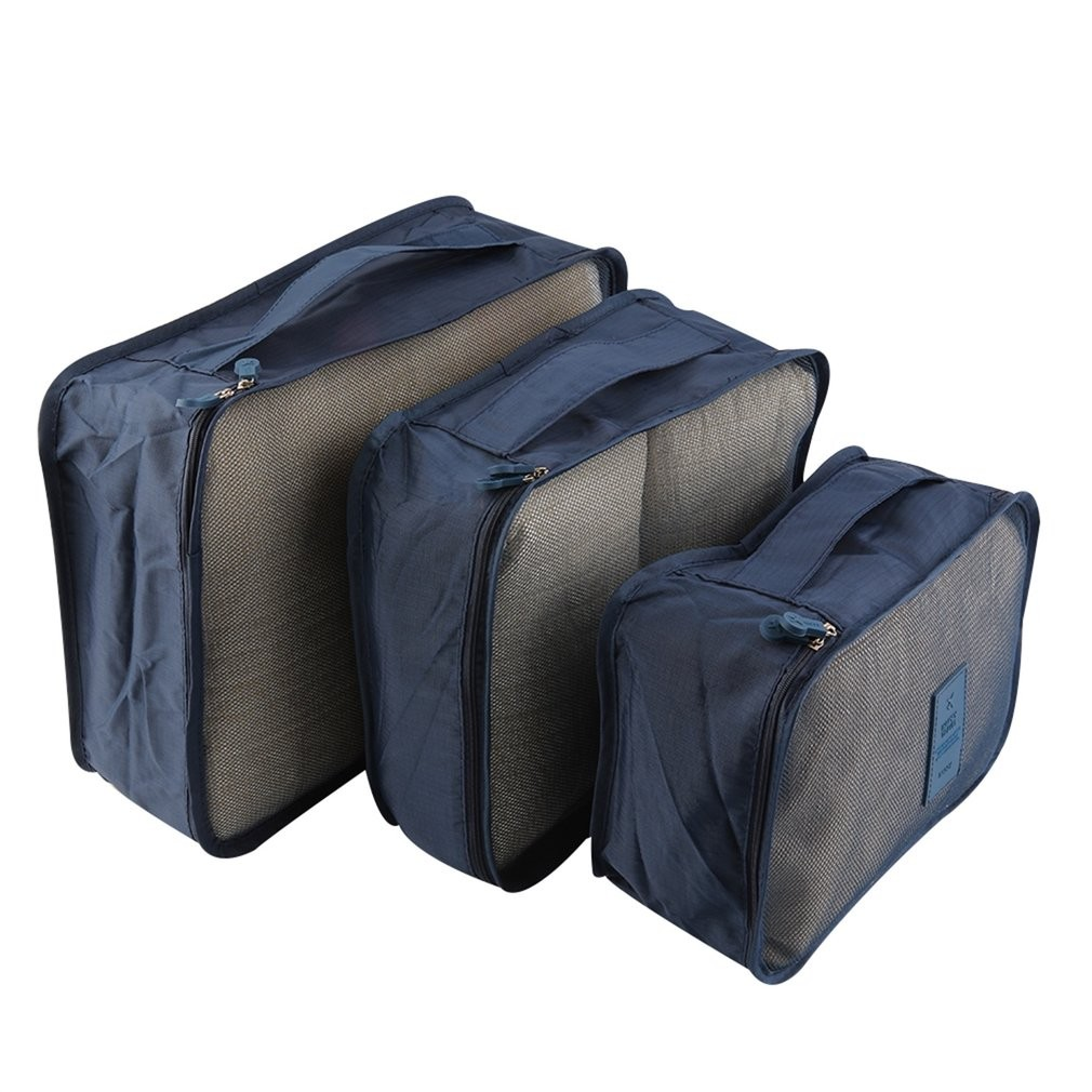 5e662dff4de8 6pcs Set Waterproof Clothes Storage Bag Packing Cube Travel Luggage  Organizer Dark Blue  Product No  1825716. Item specifics  Seller  SKU ZK765103  Brand