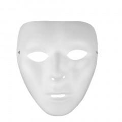 Cosplay Halloween Festival White Full Face Dance Costume Mask for Men Women whiteu00a0 15*18cm (for women)