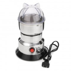 Electric Herbs/Spices/Nuts/Coffee Bean Blade Grinder Grinding Machine Tool silver&black 20*10*15/cm