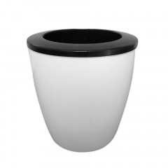 Fashioable Automatic Self Watering Flower Plants Pot Put In Floor Gardening Black & white Height(cm)10.3