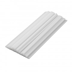 50Pcs Plastic Sucker Tubes Sticks for Candy Chocolate Cake Lollipop Popsicle white 15cm