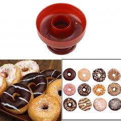 Plastic Doughnut  DIY Donut Maker Cutter Mold Desserts Bakery Baking Mould Tool red 85*85*60mm