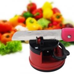 Knife Sharpener Scissors Grinder Secure Suction Chef Kitchen Sharpening Tool red 60*60*70mm