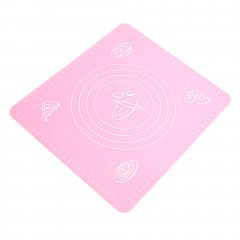 Silicone Cake Dough Pastry Fondant Rolling Cutting Mat Baking Pad Baker Tool pink