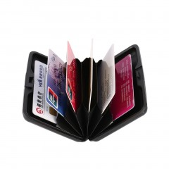 Waterproof Business ID Credit Card Wallet Holder Aluminum Metal Case Box Black