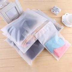 5PCS Waterproof Zip Clothes Underwear Bra Socks Storage Bag Seal Pouch Organizer transparent