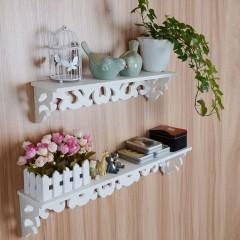 PVC Board White Carve Display Wall Shelf Rack Storage Ledge Home Decoration