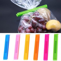 6pcs Kitchen Storage Food Snack Seal Sealing Bag Clips Clamp Plastic Tool As the picture shown