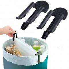 2pcs Home Practical Garbage Can Waste Bin Trash Can Bag Lock Clip Holder