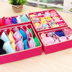 4 In 1 Foldable Underwear Organizer Storage Box Ties Boxes For Scarfs Socks