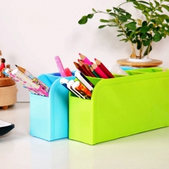 Desktop Storage Box Cosmetics Container Makeup Organizer Box For Home Office green
