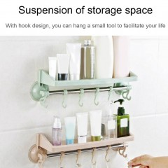 Powerful Vacuum Strong Suction Cup Kitchen Bathroom Towel Rack Plastic Shelf