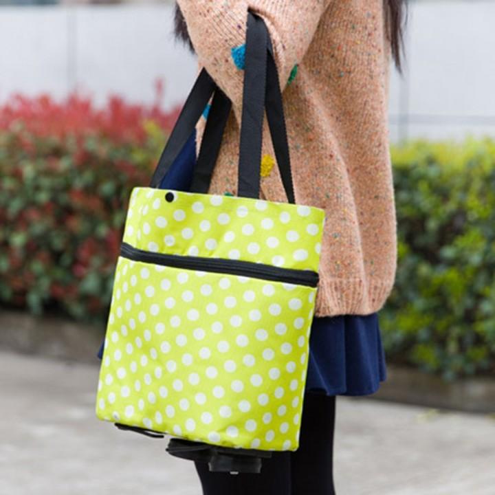 Large Capacity Waterproof Oxford Cloth Foldable Shopping Trolley Wheel Bag