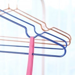 10pcs/Lot Stainless Steel Hangers Wire Anti-skid Drying Clothes Rack Hanger