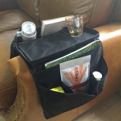 6-Pocket Sofa Armrest Organizer Remote Control Tray Holder Bag For Home Storage