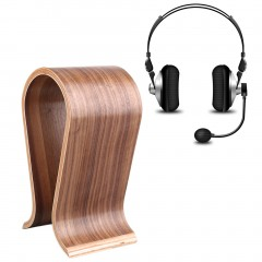 New U-Shaped Wooden Headphone Display Stand Holder for Universal Headset