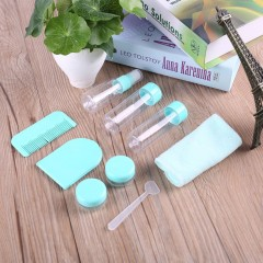 9pcs/set Cosmetic Packaging Bag Empty Spray Bottle Travel Portable Kit