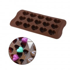 Silicone Ice-Cube Chocolate Cake Jelly Tray Pan Heart Maker Mold Mould chocolate 21.3cm(L)X10.5cm(W)X2.3cm(H)