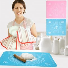 Silicone Cake Dough Pastry Fondant Rolling Cutting Mat Baking Pad Baker Tool Blue approx. 29 x 26cm