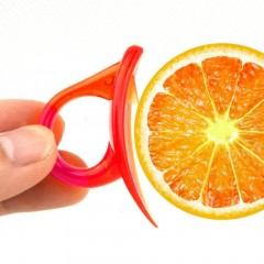 Creative Snail Shape Orange Peeler Finger Type Orange Lemon Opening Device