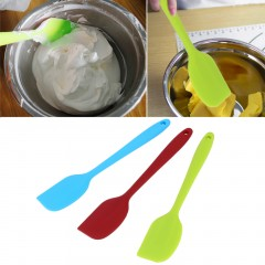 Silicone Baking Tool Cake Cream Butter Spatula Mixing Batter Scraper Brush Green Length: 21.2cm