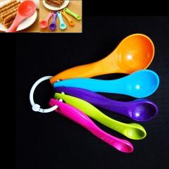 Measuring Spoon Plastic Teaspoon Scoop Tablespoon Utensil Kitchen Tool 5 Pcs