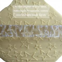 Transparent Stars Rolling Pin Fondant Cake Dough Paste Dumplings Decor Tools Transparent Length:16.5cm,Diameter: 1.3cm