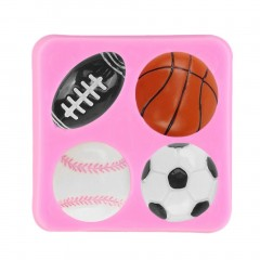 Football Rugby Basketball Tennis Baking Mould Silicone Cake Fondant Mold