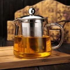 Transparent Clear Borosilicate Glass Teapot Elegant Glass Tea Cup Teapot