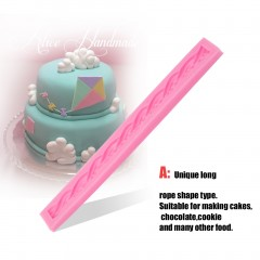 Long Rope Type Silicone 3D Cake Mould Fondant Cake Decoration Cookie Mould