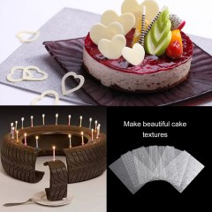 6PCS Tyre Texture Mats For Sugar Craft Decoration Cake Mold Baking Tools