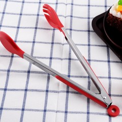 Silicone Bread Food Tongs Baking Clip Round Head Clamp BBQ Cooking Tools