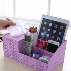 Desktop Shelves Storage Box Plastic Makeup Storage Box Organizer Tissue Box