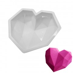 Bakeware Diamond Love Hearts Mousse Cake Mold French Dessert Silicone Mold