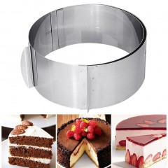 Adjustable Round Circle Shape Stainless Steel Cookie Mousse Ring Mold