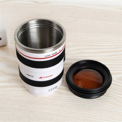 Vacuum Flasks Travel Coffee Mug Cup Water Tea Camera Lens Cup With Lid Gift