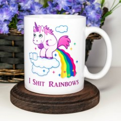 Light Magic Mug with Unicorn & Rainbow Pattern Letter Print Color Changing Cup