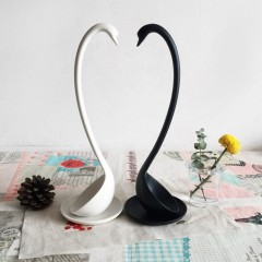 Swan Shape Soup Spoon With Tray Long Handle Standing Spoon Kitchen Tableware