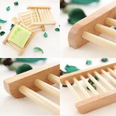 1pc Wood Soap Tray Holder Bath Bathroom Accessories Soap Plate Storage