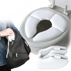 Kids Baby Toddler Travel Folding Padded Potty Seat Cushion Toilet Training