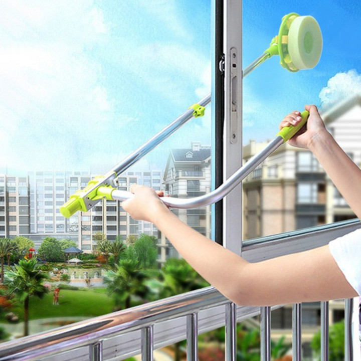 U Shape Telescopic High-rise Window Mirror Cleaning Glass Cleaner Dust Brush